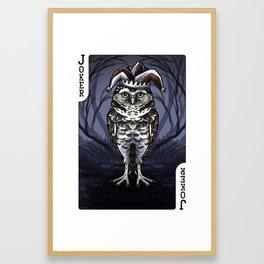 Owl Deck: Black Joker Framed Art Print