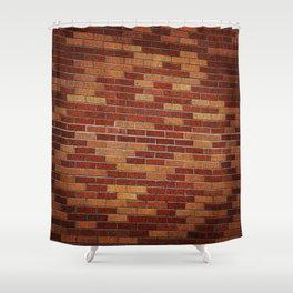 Brick Wall Rorschach Shower Curtain