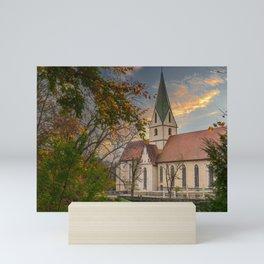 Monastery church Blaubeueren Mini Art Print