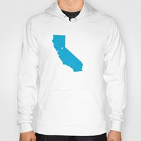 california Hoodies featuring California by Hunter Ellenbarger