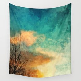Trees at Sunset Wall Tapestry