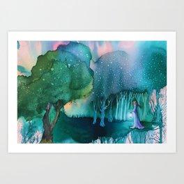 Bosc de Gleyhn (Gleyhn forest) Art Print
