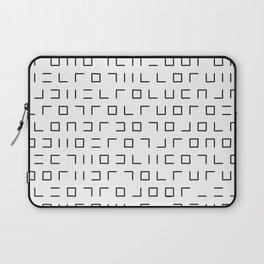 Code Breaker - Abstract, black and white, minimalist artwork Laptop Sleeve