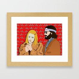 MARGOT AND RICHIE Framed Art Print
