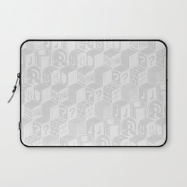 SUPER MARIO BLOCK-OUT! (White Edition) Laptop Sleeve