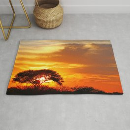 African sunrise Rug
