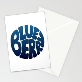 Typo' Blueberry Stationery Cards