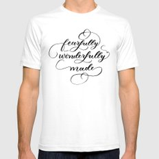 Fearfully & wonderfully made - brushed White Mens Fitted Tee SMALL