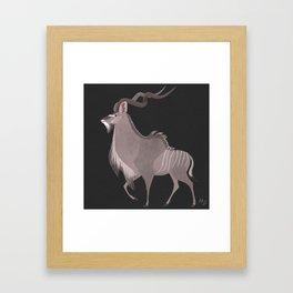 Greater Kudu Framed Art Print