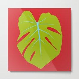 Tropical Leaf - Young Monstera Metal Print