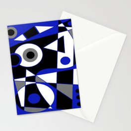 Abstract #505 Blue Stationery Cards