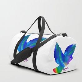 Owl in flight Duffle Bag