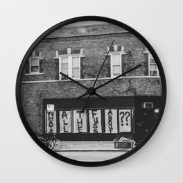 Urban Thoughts Wall Clock
