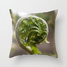 Christmas Fern Throw Pillow