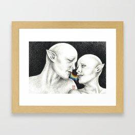 ~ Kiss Kiss ~ Framed Art Print