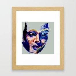 Face in Acrylic Framed Art Print