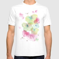 Butterfly effect 2 MEDIUM White Mens Fitted Tee