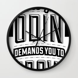 Jesus loves you – Odin demands you grow the f*ck up Wall Clock