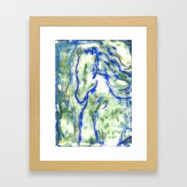 Encaustic Horse Framed Art Print