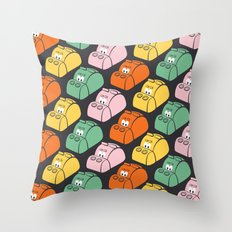 Hungry Hungry Pattern Throw Pillow