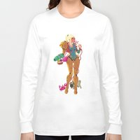 samus Long Sleeve T-shirts featuring Samus Aran by Manuel Kilger