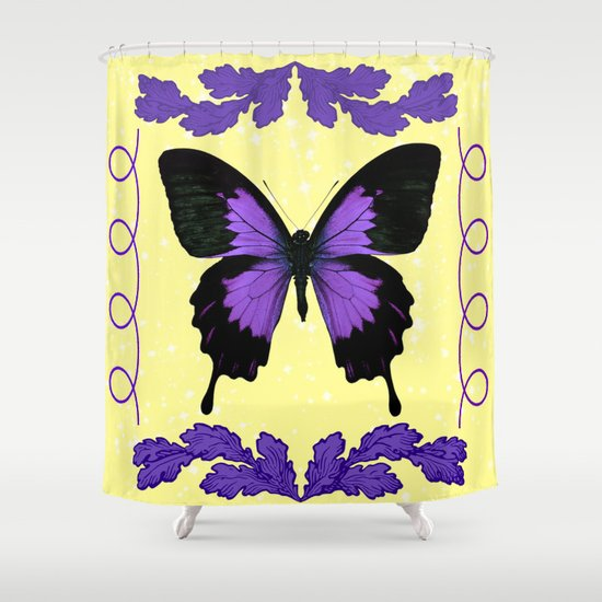 Purple Butterfly Shower Curtain By Judy Skowron Society6
