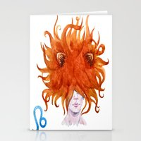 leo Stationery Cards featuring Leo by Aloke Design