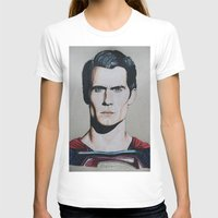 man of steel T-shirts featuring Superman (Man of Steel) by JMH Art