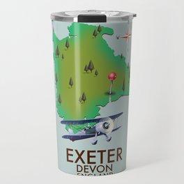 Exeter Devon vintage travel poster Travel Mug