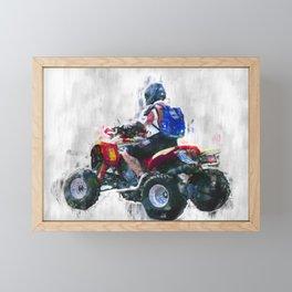 Quad racing Framed Mini Art Print