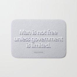 President Ronald Reagan Quote Bath Mat