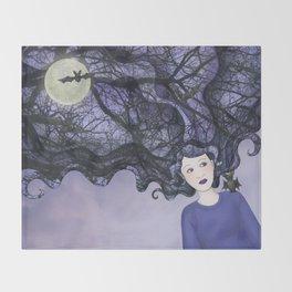 bat girl Throw Blanket