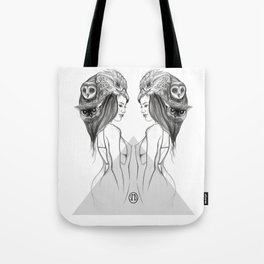 Mirrored Bird is the Word Tote Bag