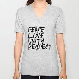 P.L.U.R. Peace Love Unity Respect Unisex V-Neck