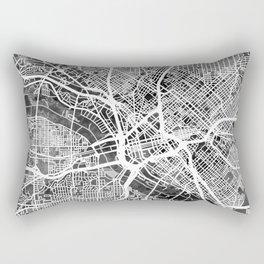 Dallas Texas City Map Rectangular Pillow