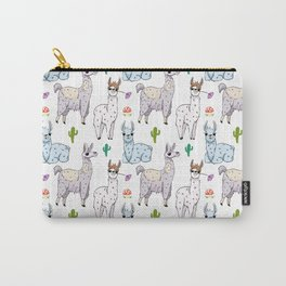 Cute and Whimsical Llama Pattern Carry-All Pouch