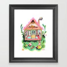 Rebecca Rabbit, Her House, and Her Belongings Framed Art Print