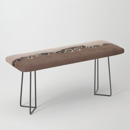 rotated rustic roof Bench