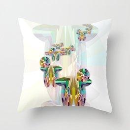 Cascadas cromáticas Throw Pillow