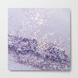 Lilac Mermaid Magic Glitter #1 (Faux Glitter) #shiny #decor #art #society6 Metal Print