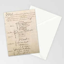 United States Constitution Signatures Stationery Cards