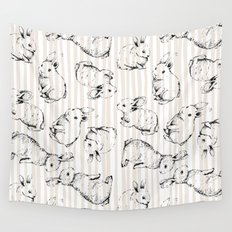 Vintage Bunnies Wall Tapestry