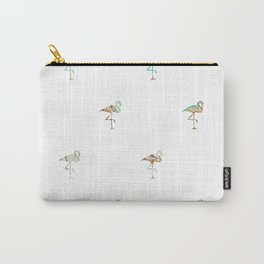 Flamingo Spring Pattern Carry-All Pouch