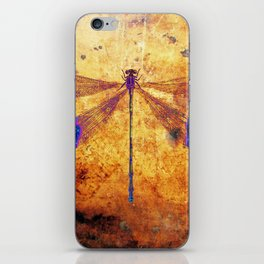Dragonfly in Amber iPhone Skin