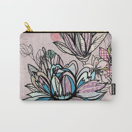 Paper Flowers #1 Carry-All Pouch