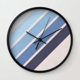 Blue Color Drift Wall Clock