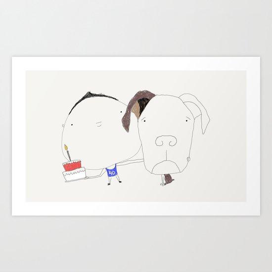 Pet birthday Art Print