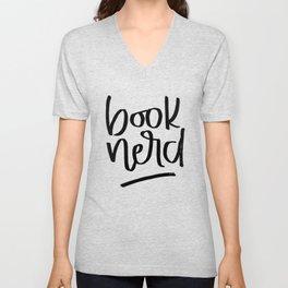 Book Nerd Unisex V-Neck