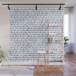 Watercolor triangles pattern Wall Mural
