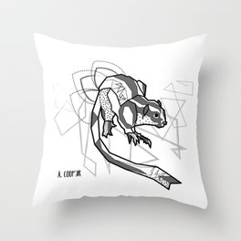 Geometric Striped Possum Throw Pillow